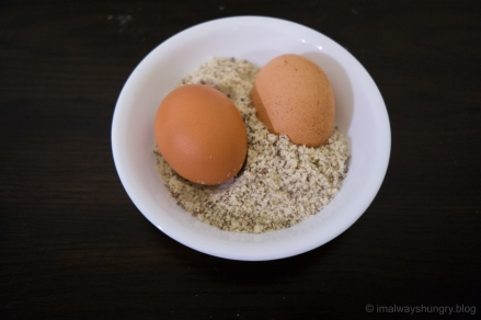 almond flour, eggs